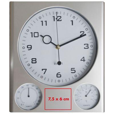 Wanduhr mit Hygrometer und Thermometer