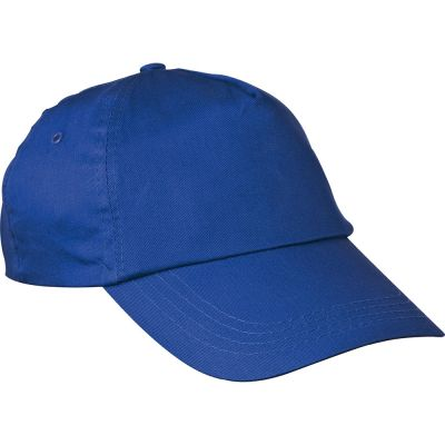 AZO-freie 5 Panel Baumwoll-Baseball-Cap blau