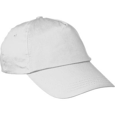 AZO-freie 5 Panel Baumwoll-Baseball-Cap weiß
