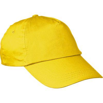 AZO-freie 5 Panel Baumwoll-Baseball-Cap gelb