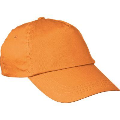 AZO-freie 5 Panel Baumwoll-Baseball-Cap orange