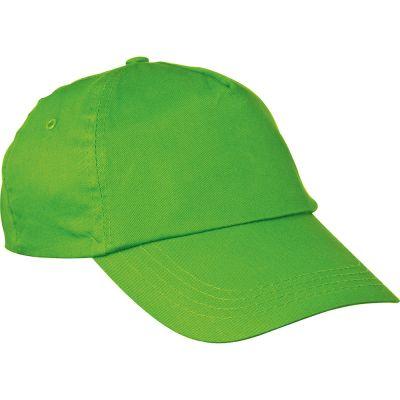 AZO-freie 5 Panel Baumwoll-Baseball-Cap grün