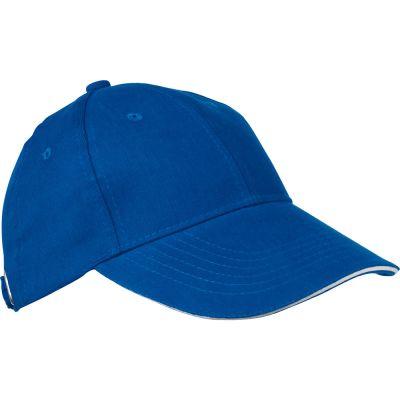AZO-freie 6 Panel Sandwich-Baseball-Cap blau