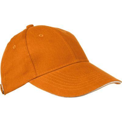 AZO-freie 6 Panel Sandwich-Baseball-Cap orange