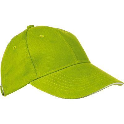 AZO-freie 6 Panel Sandwich-Baseball-Cap grün