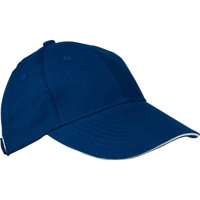 AZO-freie 6 Panel Sandwich-Baseball-Cap dunkelblau