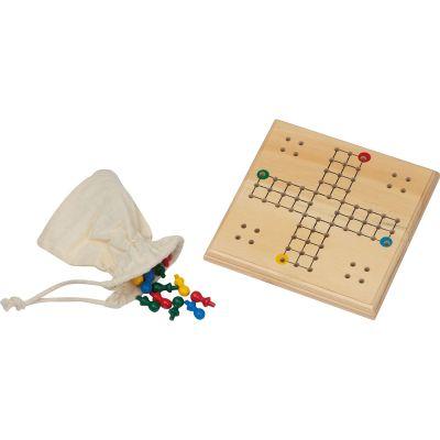 LUDO Spiel aus Holz braun