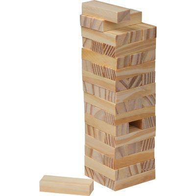 Stapel-Geschicklichkeitsspiel aus Holz braun
