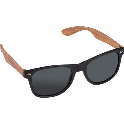 Sonnenbrille mit Bügeln in Bambusoptik, UV 400 Schutz beige