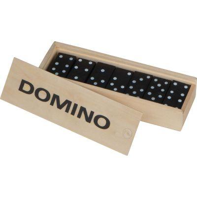 Domino Spiel aus Holz beige