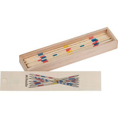 Mikado Spiel aus Holz beige