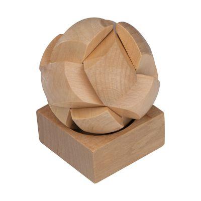 Geduldspiel aus Holz beige