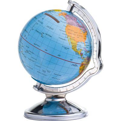 Spardose mit drehbarem Globus bunt