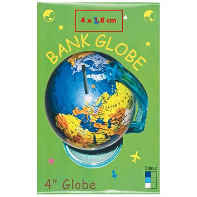 Spardose mit drehbarem Globus