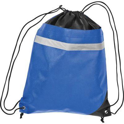 Non-Woven Gymbag mit reflektierendem Streifen auf der Vorderseite