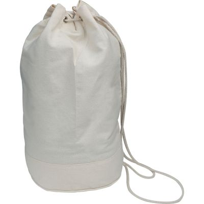 Oeko-Tex® STANDARD 100 Seesack aus Baumwolle mit Kordelzug weiß