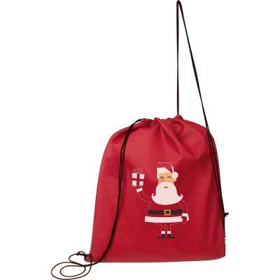 Gymbag aus Non-Woven mit Weihnachtsmotiv bunt