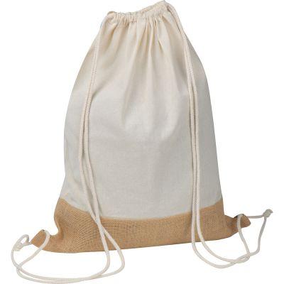 Oeko-Tex® STANDARD 100 zertifizierte Gymbag mit Juteboden weiß