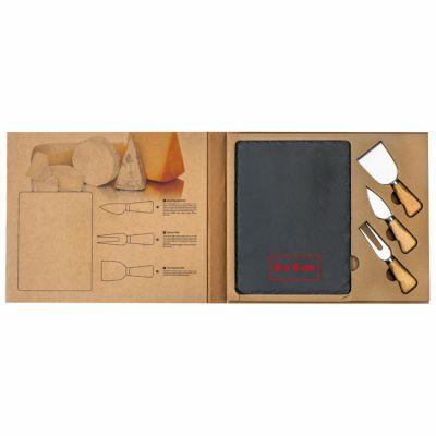 Käseset mit Schieferplatte und Käsebesteck