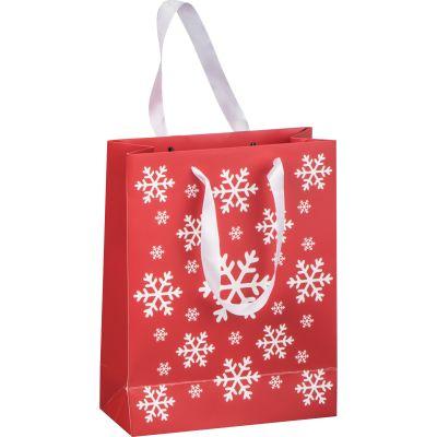 Weihnachtstasche aus Papier klein rot