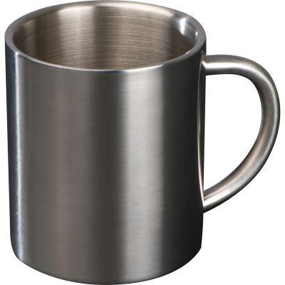 Tasse aus Metall grau