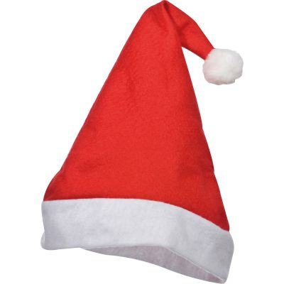 Weihnachtsmütze aus Filz rot