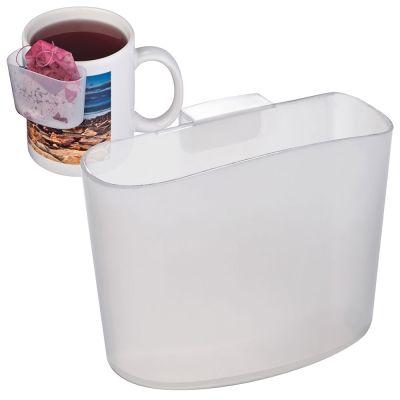 Teebeutelhalter aus gefrostetem Kunststoff transparent