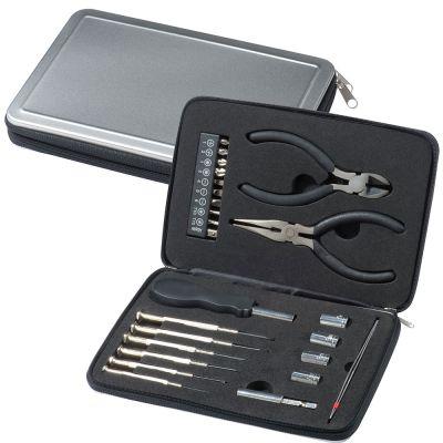 Werkzeugboxaus Aluminium grau