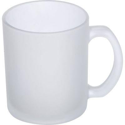 Kaffeetasse weiß gefrostet, 300 ml transparent