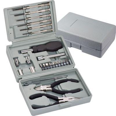 25-teiliger Werkzeugkoffer grau