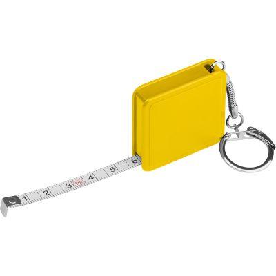 Quadradtisches 1 Meter Stahlbandmaß gelb