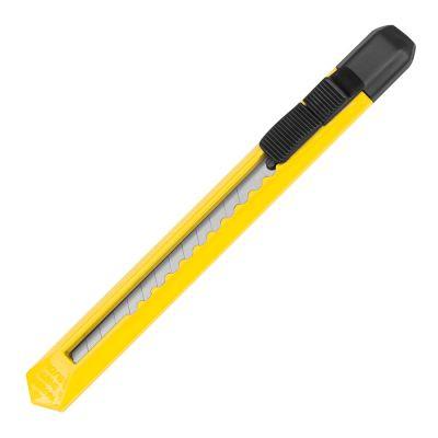 Schlankes Kartonmesser aus Kunststoff gelb