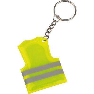 Schlüsselanhänger in der Form einer Sicherheitsweste gelb