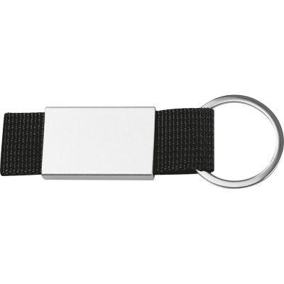 Schlüsselanhänger mit farbigem Stoffbändchen AI0021600