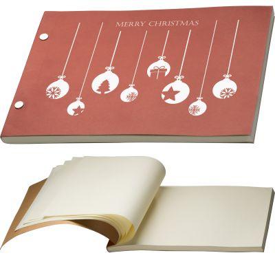 Notizbuch mit Pappeinband rot