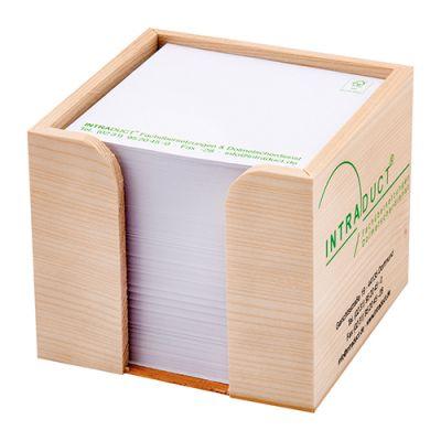 Zettelboxen, Zettelspeicher Holz Werbeartikel mit Logo (MW0000400)