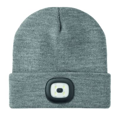 BEANIE LIGHT weiß/grau MO0008603