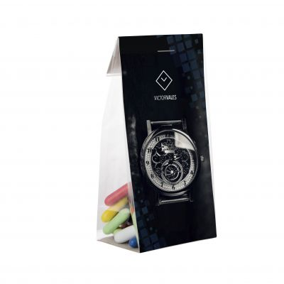 Mini tüte 50 g mit Karte transparent incl. vollfarbigem Druck(PE0001700)