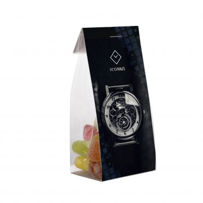Mini tüte 50 g mit Karte transparent incl. vollfarbigem Druck(PE0002000)
