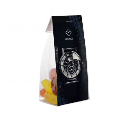 Mini tüte 50 g mit Karte transparent incl. vollfarbigem Druck(PE0002300)