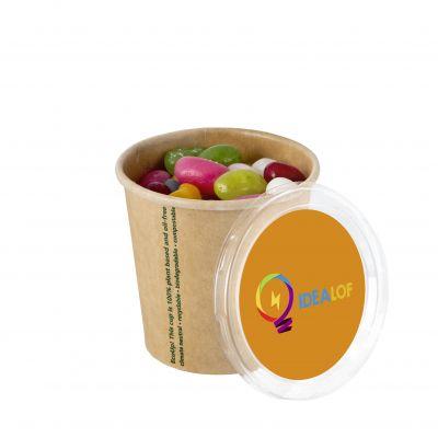 Bio verpackung mit 4c-Euroskala Aufkleber braun incl. vollfarbigem Druck(PE0005700)