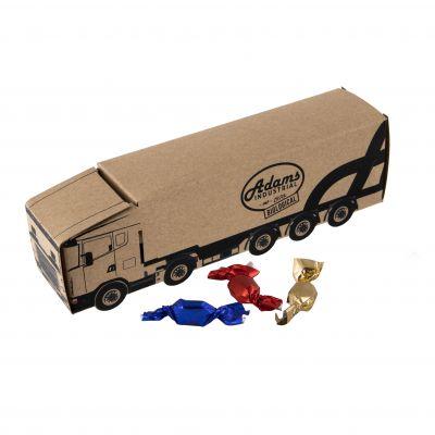 LKW Kraft 4c-Euroskale bedruckt,mit ca. 110g Metallic Sweets braun incl. vollfarbigem Druck(PE0006100)