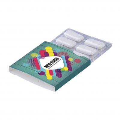 Kaugummi Blister 6 Stück weiß incl. vollfarbigem Druck(PE0006800)