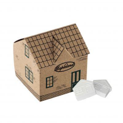 Haus 4c-Euroskale bedruckt, mit ca. 45g Haus Pfefferminz braun incl. vollfarbigem Druck(PE0010200)