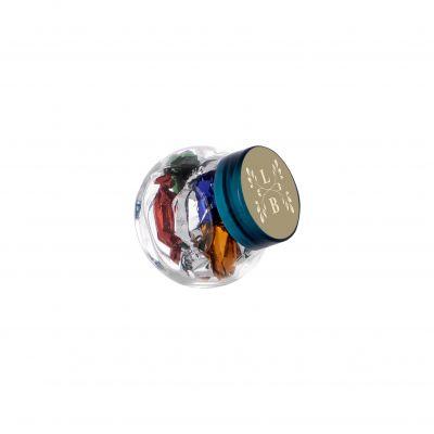 Micro Glasskrug 50 ml blau incl. vollfarbigem Druck(PE0022400)