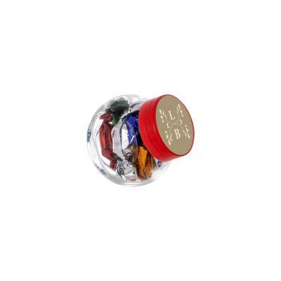 Micro Glasskrug 50 ml rot incl. vollfarbigem Druck(PE0022700)
