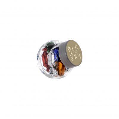 Micro Glasskrug 50 ml silber incl. vollfarbigem Druck(PE0022900)