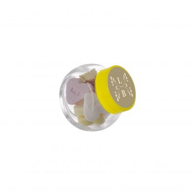 Micro Glasskrug 50 ml gelb incl. vollfarbigem Druck(PE0023200)