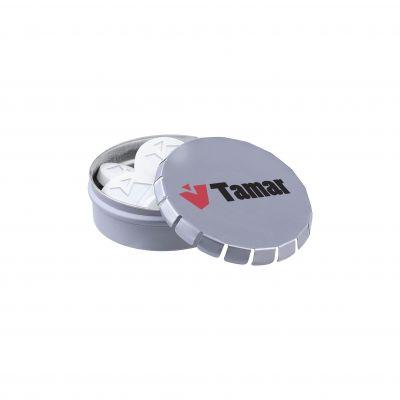 Mini Klick-Klack Dose Logo Pfefferminz grau(PE0033600)