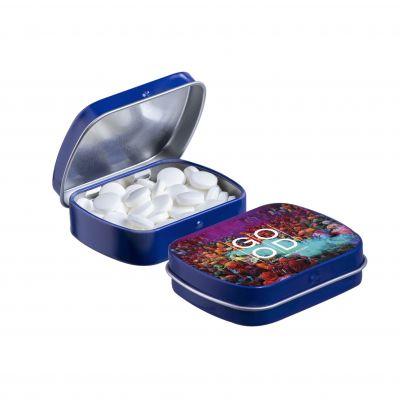 Mini Klappdeckeldose blau(PE0039000)